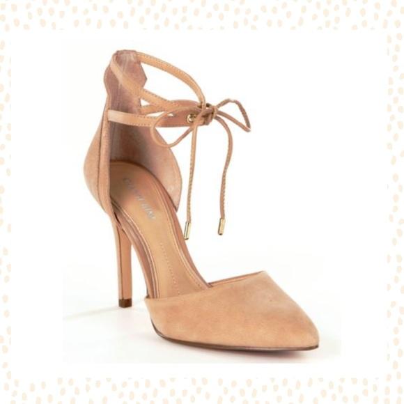 f1a60ad94f5 Gianni Bini Shoes - Gianni Bini Nude Heels with tie around ankle sz 8